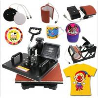 China 5 in 1 Dual Digital Transfer Sublimation Heat Press Machine for T-Shirt Mug Hat on sale