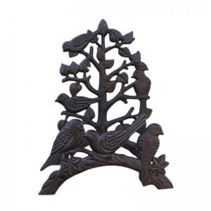 China Cast Iron Decorative Garden Hose Bracket Antique Brown wholesale