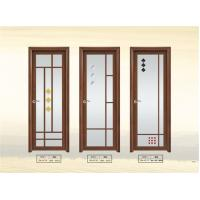 Quality Double Tempered Interior Glass Door 6003 Aluminum Frame For Bathroom for sale