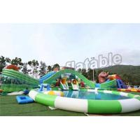 China Fun Outdoor Amusement Park Inflatable Water Parks For Adults And Childrens on sale