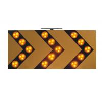China Sequencially 18V 3W Traffic Arrow Boards , Warning LED Solar Traffic Signs wholesale