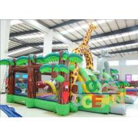 China Giant Jungle Jumping Inflatable Playground Trampoline Park For Kids wholesale
