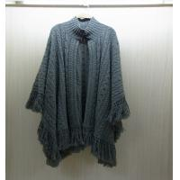 China Winter Mohair Womens Chunky Sweaters Poncho Knit 100% polyester wholesale