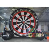 China Black And White Gaint PVC Inflatable Soccer Foot Dart For Outdoor Sport Game wholesale