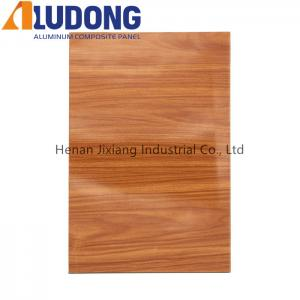 China ISO PE Coated 1500mm Wooden Aluminum Composite Panel wholesale