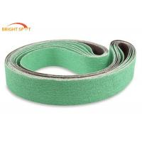 China Green Ultra Premium Ceramic Sanding Belts Butt Joint X Weight Cloth P40 - P200 wholesale