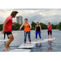 China Light Grey Floating Water Yoga Mat For Woman , Lightweight Sup Yoga Mat wholesale