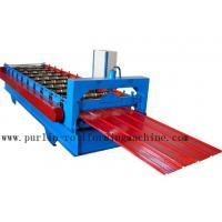 China Metal Trapezoidal Cold Roll Forming Machine / Roofing Panel Roll Forming Equipment wholesale