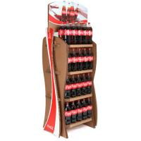 China Supermarket Multi tier MDF Bottle Display Rack Stand Finish two side showcase merchandise wholesale