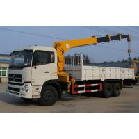 China 12Ton 6x4 Dongfeng Used Crane Truck 12000X2500X3850mm With Stretchable Arm wholesale