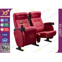 China Luxury 3d Theater Cinema Chair / Sponge + Fabric + Steel Movie Seat wholesale