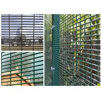 "China PVC Coated High Security Steel Wire Fencing Wire Fence Panel  4mm wire 3""*1/2"" Hole For Prison wholesale"