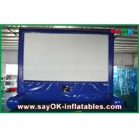 China Blue Inflatable Outdoor Movie Screen Customized for Advertising / Party / Event wholesale