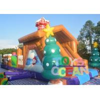 Quality Large Christmas Inflatable Playground Snowman Bounce Obstacle Course For for sale