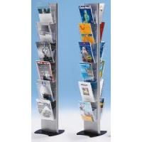 China Portable Acrylic Double Side Floor Literature Magazine Display stand Rack 12 compartments wholesale