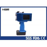 Quality Continuous Portable Industrial Handheld Inkjet Printer , Box Expiry Date for sale