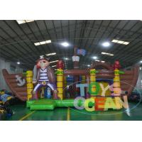 China Sewed Inflatable Multiply Pirate Ship Bouncy Castle Eco - Friendly wholesale