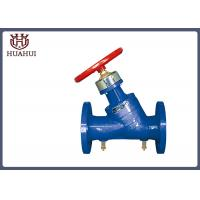 China Red Handwheel Balanced Control Valve Double Flange With Accurate Flow Control wholesale
