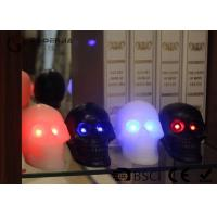 China Skull Shaped Safety Halloween Led Candles For Home Decoration 340g wholesale