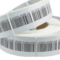 China High detection rate round customized cloth Soft label with barcode printing wholesale