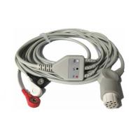 Buy cheap one piece 3 leads 6 pin snap electrode EKG/EMG/EEG/ECG cable lead wire Interventional equipment Importer from wholesalers