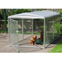 China Large Folding Pet Cage For Dog House / Metal Dog Crate Kennel With Gate wholesale