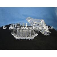 China hot-selling clear glass candy container with lid, fruit plate wholesale wholesale