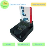 China ID Smart card reader with fingerprint sensor with Sam slot  USB fingerprint payment reader wholesale