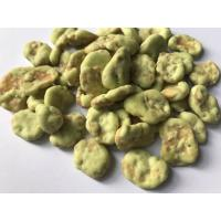 China Agricultural Fava Bean Snacks Spicy , Dry Roasted Fava Beans Wasabi Flavor wholesale