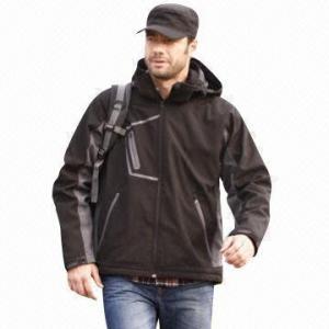 China Men's Softshell Jacket, Waterproof, Windbreaker, Fashionable Design wholesale