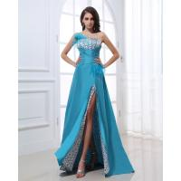 China Slim Chiffon Fabric Evening Party Dresses , Blue Heart-Shaped Markings Bra Sexy For Birthday / Evening Party wholesale
