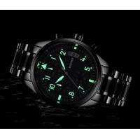 Quality Wholesale Fashion Kinyued Men Chronograph Quartz Wrist Watches Waterproof 30m Luminous Casual Watches JYD-1007 for sale