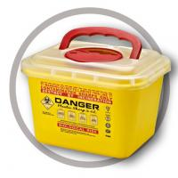 China 5 Litre Sharps disposal container, Sliding Lid, Red,Sharps Container  | WinnerCare wholesale