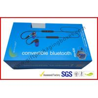 China Blue Color Apparel Gift Boxes / Smart Watch Box For Packing Electronic Product wholesale