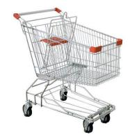 China Anticollision Plastic Grocery Store Shopping Cart With Baby Seat Color Optional on sale