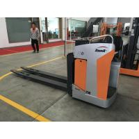 China 2000kg Sitting Type Electric Pallet Truck Extra Fork Length, USB Interface For Cellphone Charging wholesale