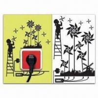 China Switch Socket Decoration, Removable and Easy-to-use, Measures 15 x 24cm wholesale