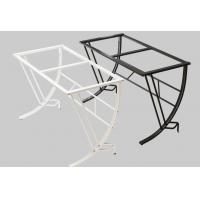 China Tempered Glass Desktop Computer Desk , Steel Wood White Computer Table wholesale