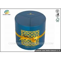 China Round Candle Packaging Paper Tube Hot Stamping Surface Finishing Cylinder Box wholesale