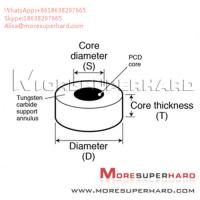 China Tungsten Carbide Supported Diamond Die Blanks used to wire drawing Alisa@moresuperhard.com wholesale