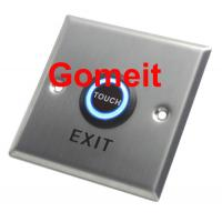 China Customized Home / Hotel Automatic Door Exit Button NC / NO COM Output 86 X 86 X 25mm wholesale