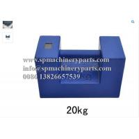 China Weight Measurement Equipment Rectangular Shape 20 kg Proof Load Test Bar Weight With Grip Handle wholesale