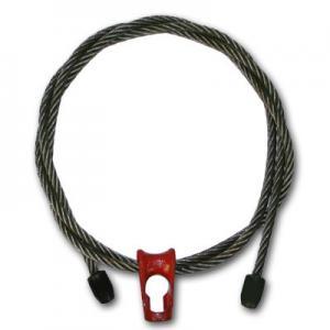 "China 3/8"" x 6 ft 6x19 Wire Rope Logging Chokers Nub & Nub Skidding - Style wholesale"