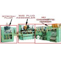 China Green High Speed Cigarette Making Machines With Filter Assembling And Tray Filler on sale