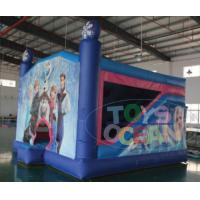 China Commercial Sports Combo Bounce House / Blue Princess Bouncy Castle For Juniors wholesale