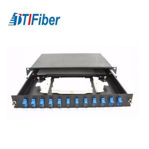 Quality Rack Mount Fiber Optic Terminal Box 12 Duplex Port 19 Inch Standard Structure for sale