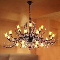 China Crystal Lighting Chandelier with Hand-painted Glass wholesale