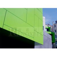 China Chartreuse Brushed Aluminum Sheets 3mm PVDF Coated Curtain Wall Use wholesale