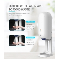 China 1.1L Capacity Hand Sanitizer Auto Dispenser With Forehead Thermometer wholesale
