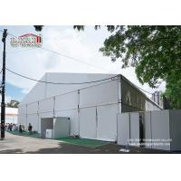 China Metal Frame Outdoor Exhibition Tents / Structure Marquee Canopy White PVC Covered Flame Resistant wholesale